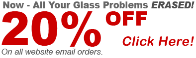 twenty percent off glass repairs